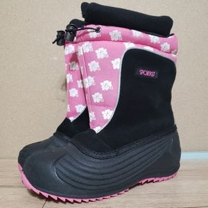 Sporto Leilani Girl's Pink and Black Snow Boots 4